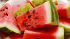 Wassermelone-Stücke.