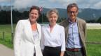 Anita Richner (mitte) mit ihren Gästen Virginie Borel und Matthias Remund.