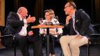 Christian Zeugin (rechts) mit den «Persönlich»-Gästen Karl Odermatt und Christine Mangold.
