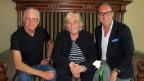 Christian Zeugin mit Toni Vescoli und Ruth Hirschfeld.