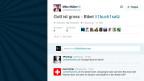 Screenshot einer Kurznachricht auf Twitter.