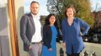 «Persönlich» aus Bern: Katharina Kilchenmann (rechts) mit Tania Espinoza Haller und Jonas Lüscher.