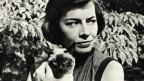 Foto von Patricia Highsmith mit einer Katze