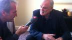 SRF-Kulturredaktor Michael Luisier im Gespräch mit John Cleese.
