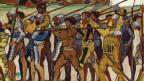Ausschnitt aus einem Gemälde, das Soldaten zeigt.