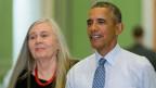 Haben sich zum Gespräch getroffen: Robinson und Obama (Bild: Keystone)