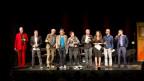 Thomas C. Breuer, Bänz Friedli, Franz Hohler, Alfred Dorfer, Gisela Widmer, Simon Enzler, Stefanie Grob, Simon Chen, Martin O. (von links)