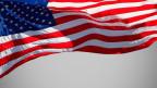 US-Flagge im Wind.