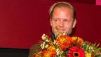 Christian Kracht bei der Preisverleihung (Bild: Ben Koechlin)