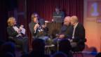 Sonja Hasler im Gespräch mit Pedro Lenz, Christian Schmid und Markus Gasser (Bild: SRF)