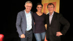 «Persönlich»-Gastgeber Dani Fohrler (links) mit Nina Burri und Martin Fey.