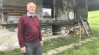 Der pensionierte Pfarrer Toni Schmid vor seinem Käsespeicher.