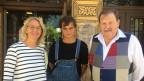 Moderatorin Sonja Hasler mit ihren Gästen Madlen Arnold und Noldi Abplanalp