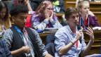 Blick in eine Jugendsession im Bundeshaus.