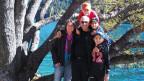 Die Familie Simo im Urlaub am Davosersee