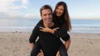 René von Gunten und Frau Miriam am Strand von Hermosa Beach in Los Angeles.
