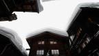 Verschneite Dächer in Kippel, Lötschental (VS)