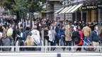 Menschenmasse auf der Zürcher Bahnhofstrasse.