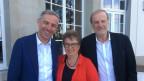 Moderator Dani Fohrler (l) mit Blanca Imboden und Dolfi Müller