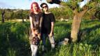 Anna Lux mit Ehemann Rico und Tochter Amelie auf ihrer Finca in Marratxi.