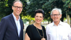 Zu Gast bei Christian Zeugin (l): Maja Brunner und Hans-Peter Duttle.