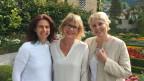 Brigitte Goldschmid (l) und Silvia Aeschbach (r) und zu Gast bei Daniela Lager.