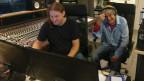 Andreas Hunziker und Hanery Amman im Studio