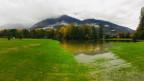 Eine überflutetete Wiese