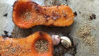 Butternuss Kürbis mit Honig und Za'atar im Ofen gebacken