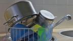 Pfannen nach dem Abwasch