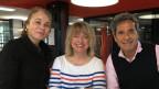Gabriella Sontheim, Daniela Lager und Roger Schawinski