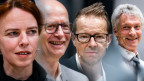 Uta Köbernick, Schertenlaib, Bänz Friedli und Gerhard Tschan
