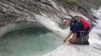 Bad mit Aussicht in den Gletschermühlen der Alp Mora