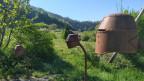 Morgarten im Ohr -unter dem Helm der Habsburger- auf dem Themenweg am Morgarten