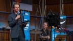 Martin Zingsheim mit Schlagzeuger Claus Schulte