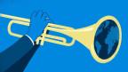 Symbol auf Blau