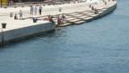 Stufen am Meer in der Stadt Zadar