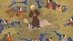 Historische Illustration Mohammeds während seiner Nachtreise