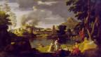 Barocke Landschaftsmalerei mit Orphues und Eurydike.