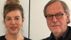 Literaturredaktorin Esther Schneider mit ihrem Gast Klaus Merz