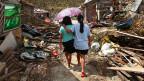 Durch den Taifun wurde alles zerstört. Hier die Stadt Maraboth.