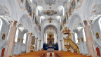 Barocker Innenraum der Klosterkirche Mariastein.