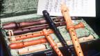 Blockflöten im Köfferchen.