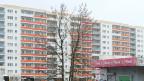 Plattenbauten in Ostdeutschland.