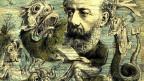 Cver eines Satiremagazins mit Jules Verne und Tiefseemonstern.