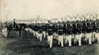 Schwarz-weiss Foto von Preussischen Soldaten