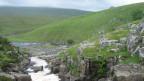 Cauldron Snout Waterfalls in den nördlichen Pennines.