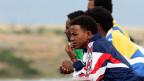 Haben die Flucht übers Meer überlebt: Flüchtlinge auf Lampedusa.