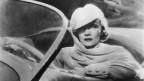 Schwarz/Weiss-Portrait von Marlene Dietrich