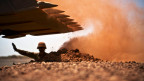 Ein französischer Soldat während der Unruhen in Mali.